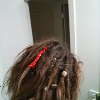 and here is the back of my dreads after I put some new wraps in :)