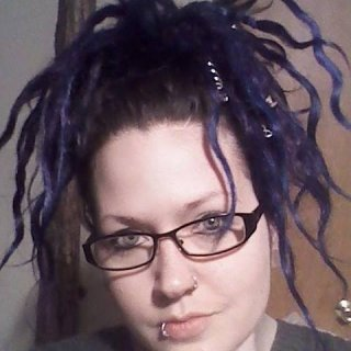 yea.... i watched SLC Punk the other night and got into my jar of blue manic panic dye..... i was planning on just letting it fade and go natural.... but i couldnt stop myself.... i like it....