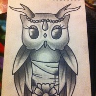 Owl with Antlers.