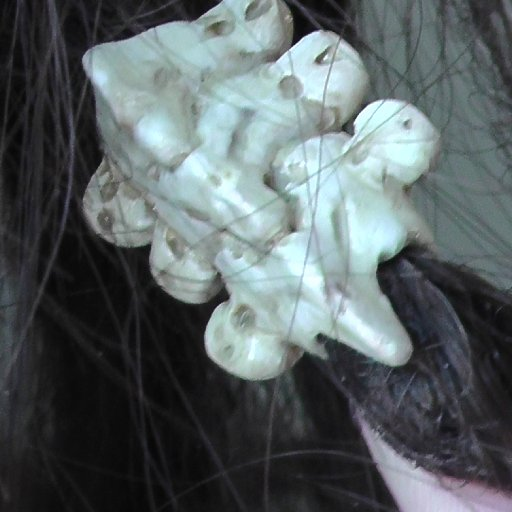 "Handmade ""vertebrae"" bead from clay"