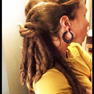 3 & 1/2 year old natural free-form dreadlocks