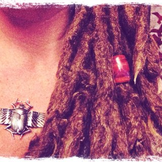 Free-form dreads 3 & 1/2 years of locking