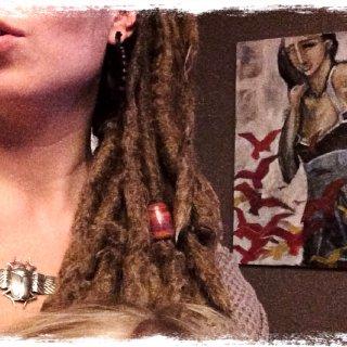 Natural free-form dreadlocks. 3 & 1/2 years old. Patience & dedication.