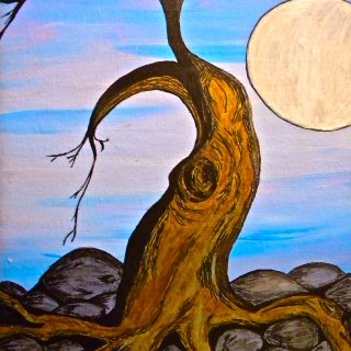 tree at dusk art of mine 2012