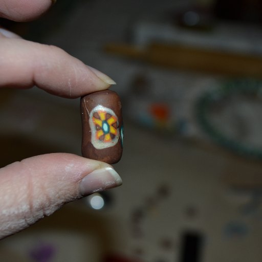 Fimo brown bead