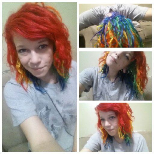 RAINBOW (Baby) DREADS!! :D