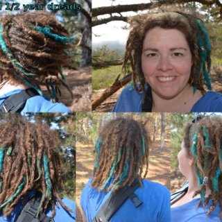 Taken at Jack's Peak park which overlooks Monterey, CA. I dyed a few locks a few weeks ago.