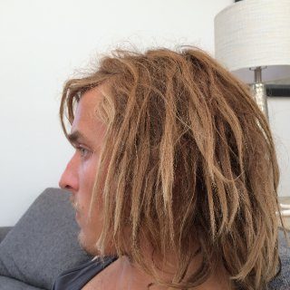 Surfed earlier and havent showered so my hair is pretty dry in these ha. Pretty stoked on 6 months.