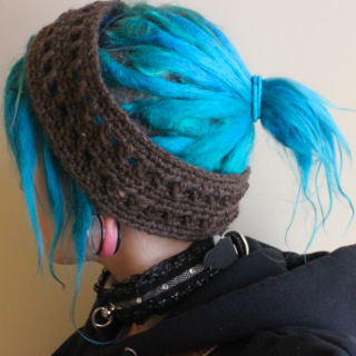 Dread band I had made of wool yarn!