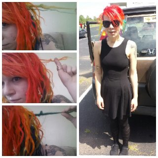 Gaining some loops :) The photo on the right is my hair up for a funeral