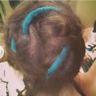 Made my own felt dreads.
