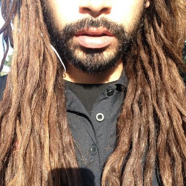All natural dreadlocks, about a year and a half