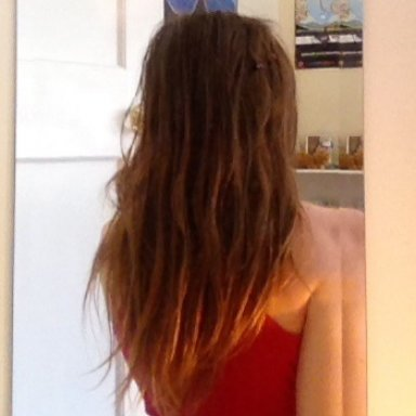Week 1 of natural dreading process - back view