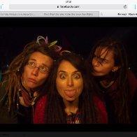 Dread head girls at a festival