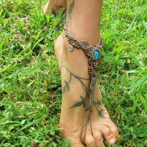 Turquoise Barefoot Sandal from my Etsy shop