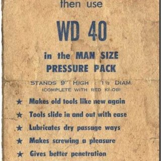 this was an actual ad for wd40 that ran in the early 1960s hilarius   but sure wouldnt want to use that for that purpose im sure if anyone used it as a sexual aid they git sued..