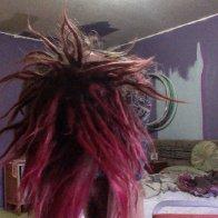 Spiky pink alien cactus