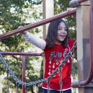 Isabelle at the park on Thursday. She moved to Oklahoma the next morning.....