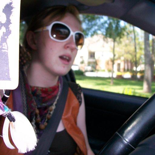 Jammin' in the car.