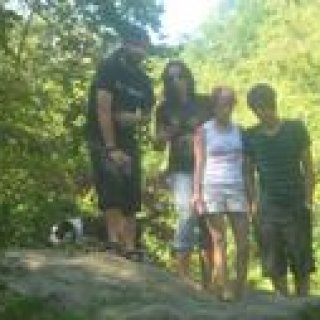 Chris, Me, Molly and Elliot at Red River Gorge