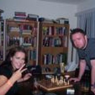 Me playing chess with Adam
