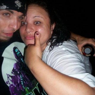 I do have dread in this pic but cant see um. me and jon on a space pirate adventure lol