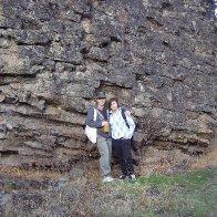 me n hannah rock wall