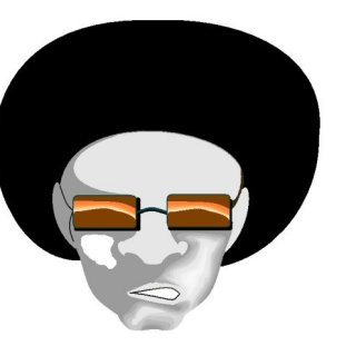 An afro sportin' guy I'm drawing in MS paint