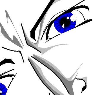 Anime face in MS paint