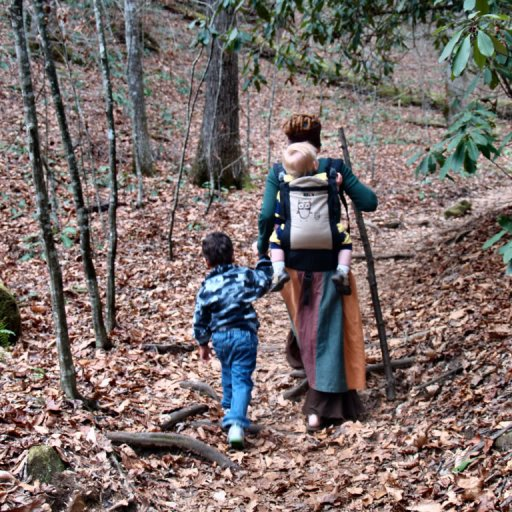 the 3 of us Hiking 11/2009