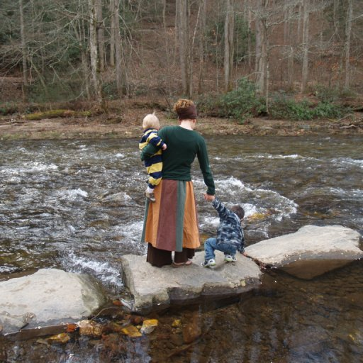playing at the river, hike 11/2009