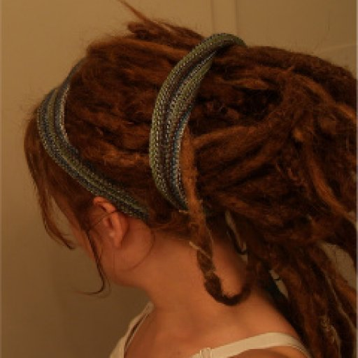 Hugged up w/ dreadband cozyness