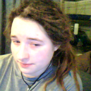 5 months old; Dreads pulled up (loosely of course!)