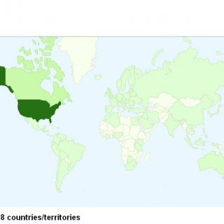 all visitors from all over the world the more green it is the more visitors from that area, we have4 almost been visited by every country..almost