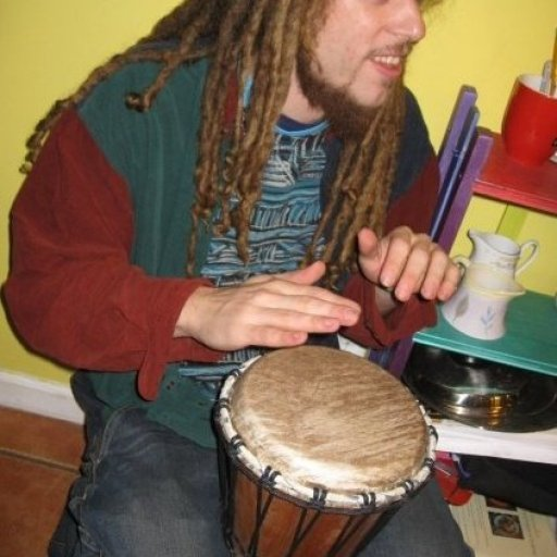 on the drum