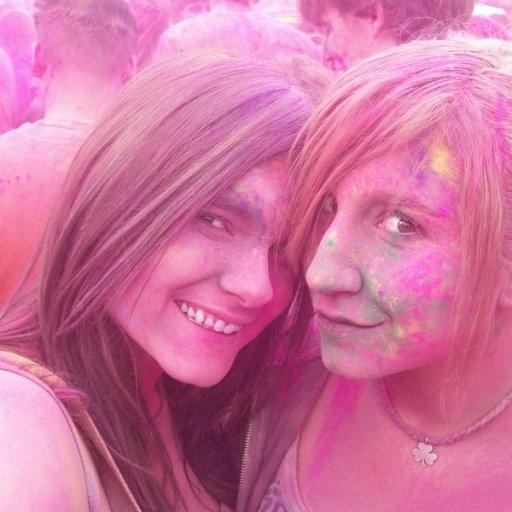 My sister and I at Holi
