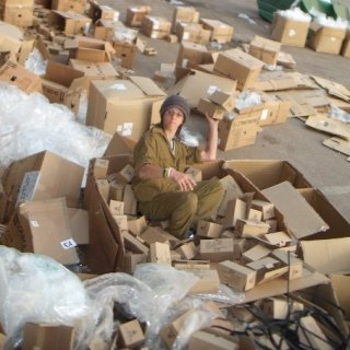 volunteering on a reserve army base during the Gaza attacks on Israel last year.