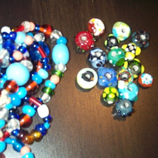 Glass beads and old Indian trade beads