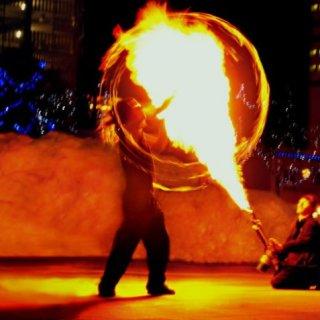 poi vs. flamethrower