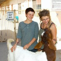 Katie James, Me, and i cant remember this beautiful Goats name <3