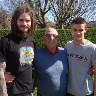me in april with my brother and grandad lol
