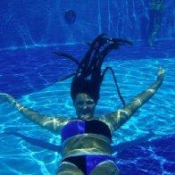 in the pool on my honeymoon