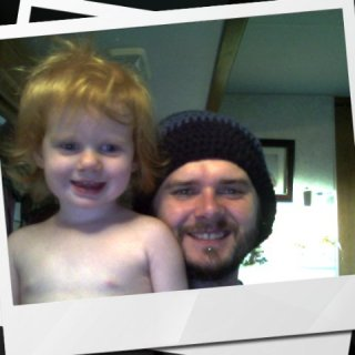 Me and my joyful redheaded daughter.