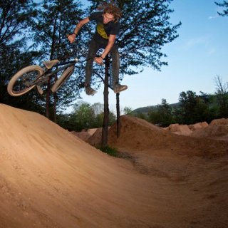 downside tailwhip at the local trails.