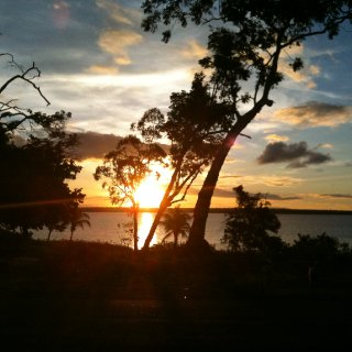 This is a photo taken from my mum's house overlooking the liver pool river. East Arnhem Land Maningrida
