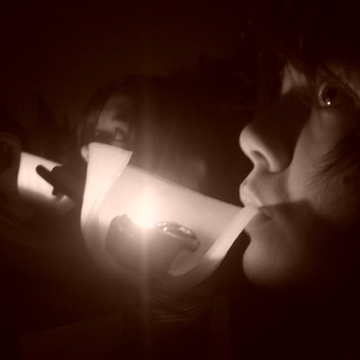 Drinking light in the echoes of darkness