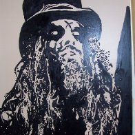 One of my paintings. Rob Zombie.