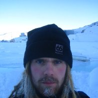 24/2/2009. Trekking on the iced fjord