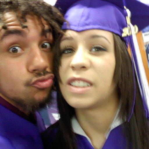 Graduation day. My friend Kristi. I call her Kristi Kreme