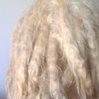 fresh blonde dreads